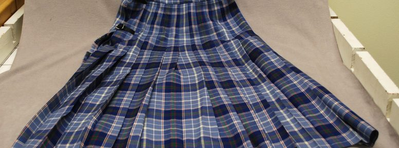 Object: Kilt (Women's Kilt in Texas Bluebonnet Tartan)