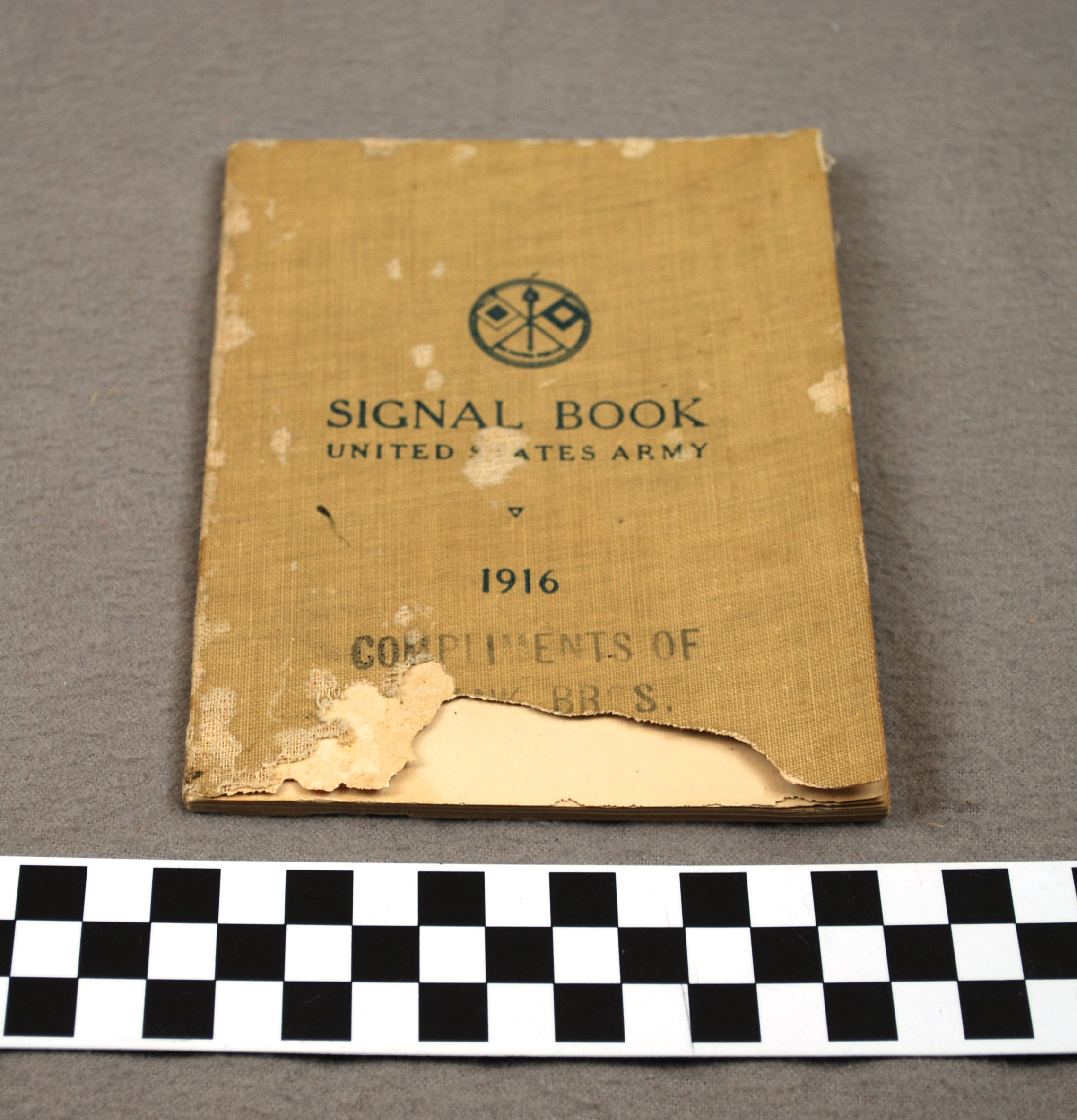 Object: Book (Signal Book, United States Army, 1916)   UTSA Institute Of Texan Cultures