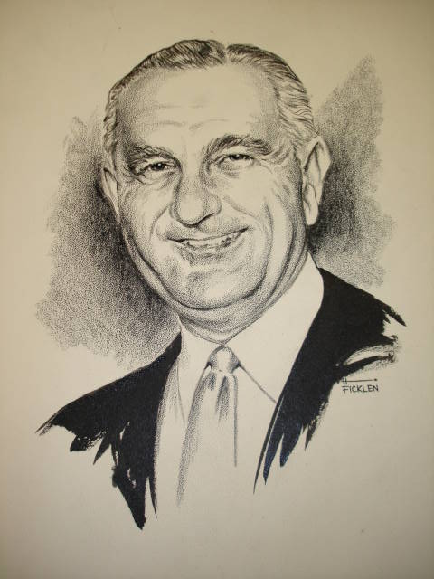 Object: Drawing (drawing of Lyndon Baines Johnson) | UTSA Institute Of Texan Cultures