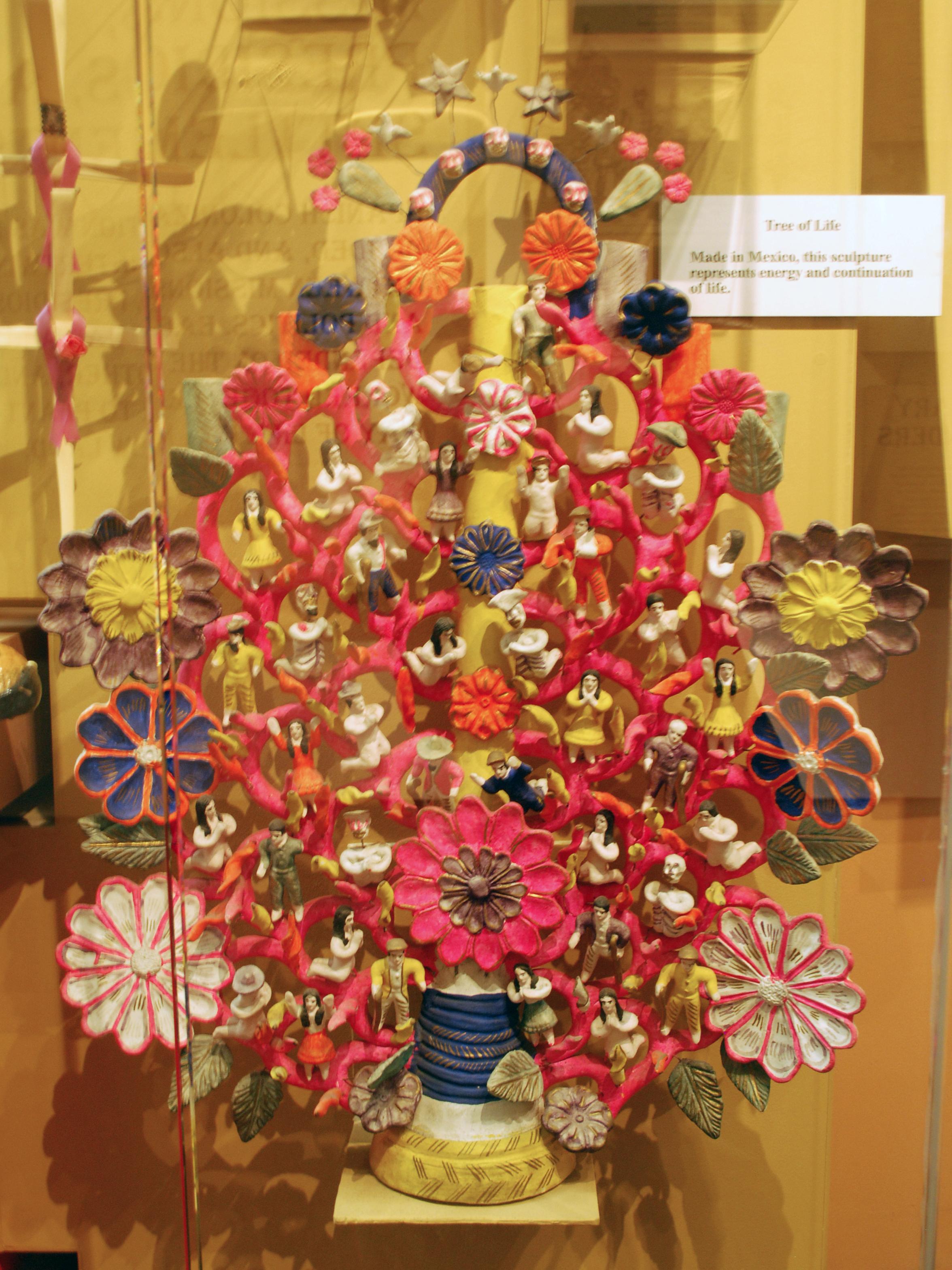 Object: Figurine (Tree of Life candelabra) | UTSA Institute Of Texan Cultures