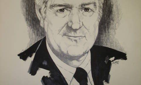 Object: Drawing (Untitled Drawing of John Connally)