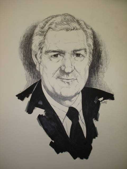 Object: Drawing (Untitled Drawing of John Connally)   UTSA Institute Of Texan Cultures