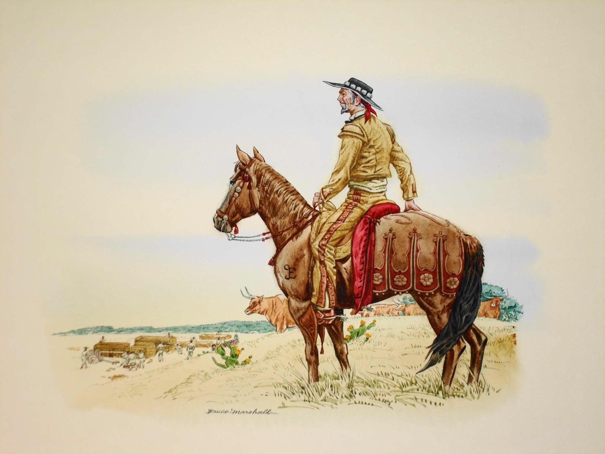 Object: Painting (Martin DeLeon Building Victoria, Texas, 1824) | UTSA Institute Of Texan Cultures