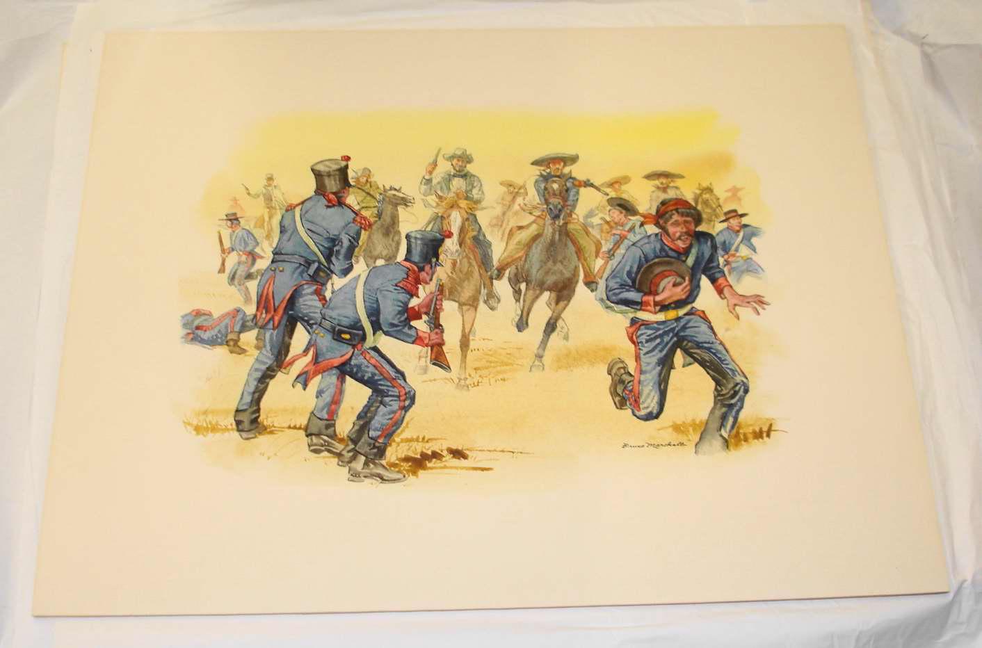 Object: Painting (Texas Rangers at Laredo, 1840) | UTSA Institute Of Texan Cultures