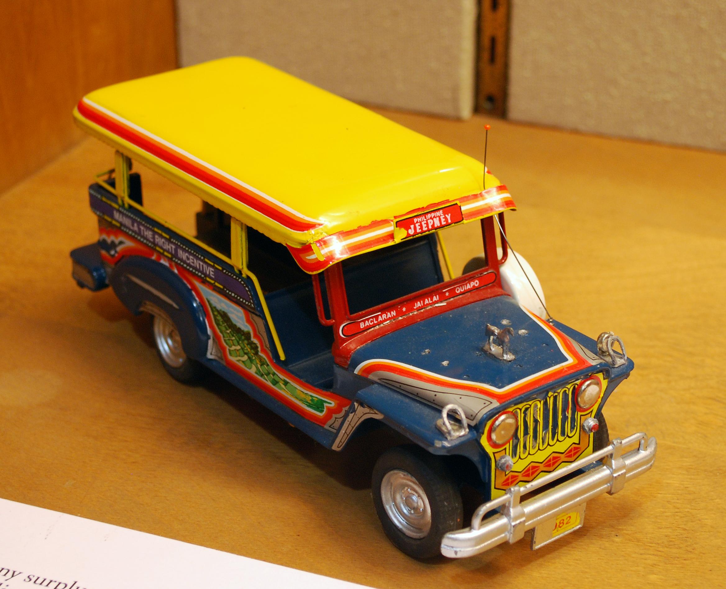 Object: Toy (Filipino Jeepney Bus)   UTSA Institute Of Texan Cultures