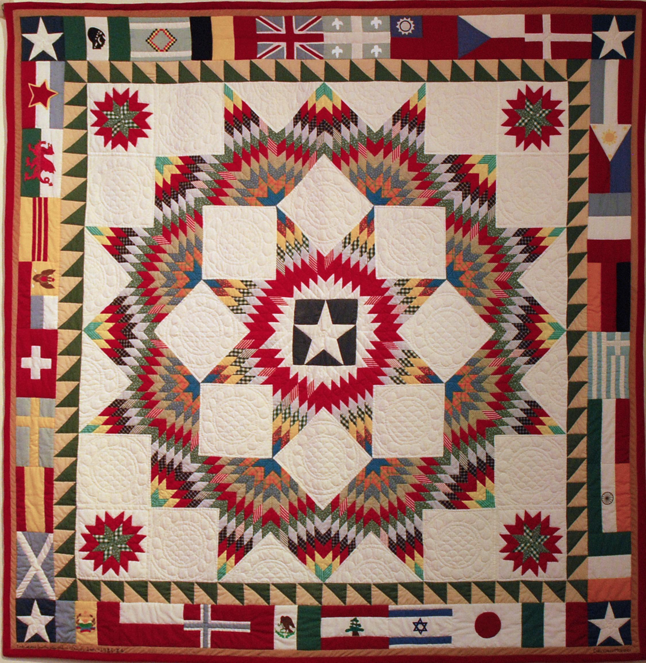 Object: Quilt (1984 Texas Folklife Festival Quilt) | UTSA Institute Of Texan Cultures