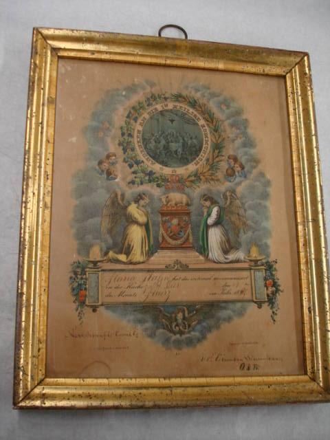 Object: Certificate (First Communion Certificate)   UTSA Institute Of Texan Cultures