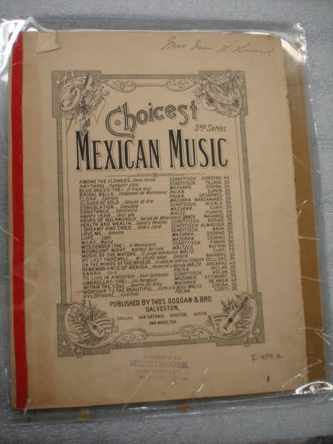 Object: Sheet Music (Choicest Mexican Music: Worship to the Beautiful) | UTSA Institute Of Texan Cultures