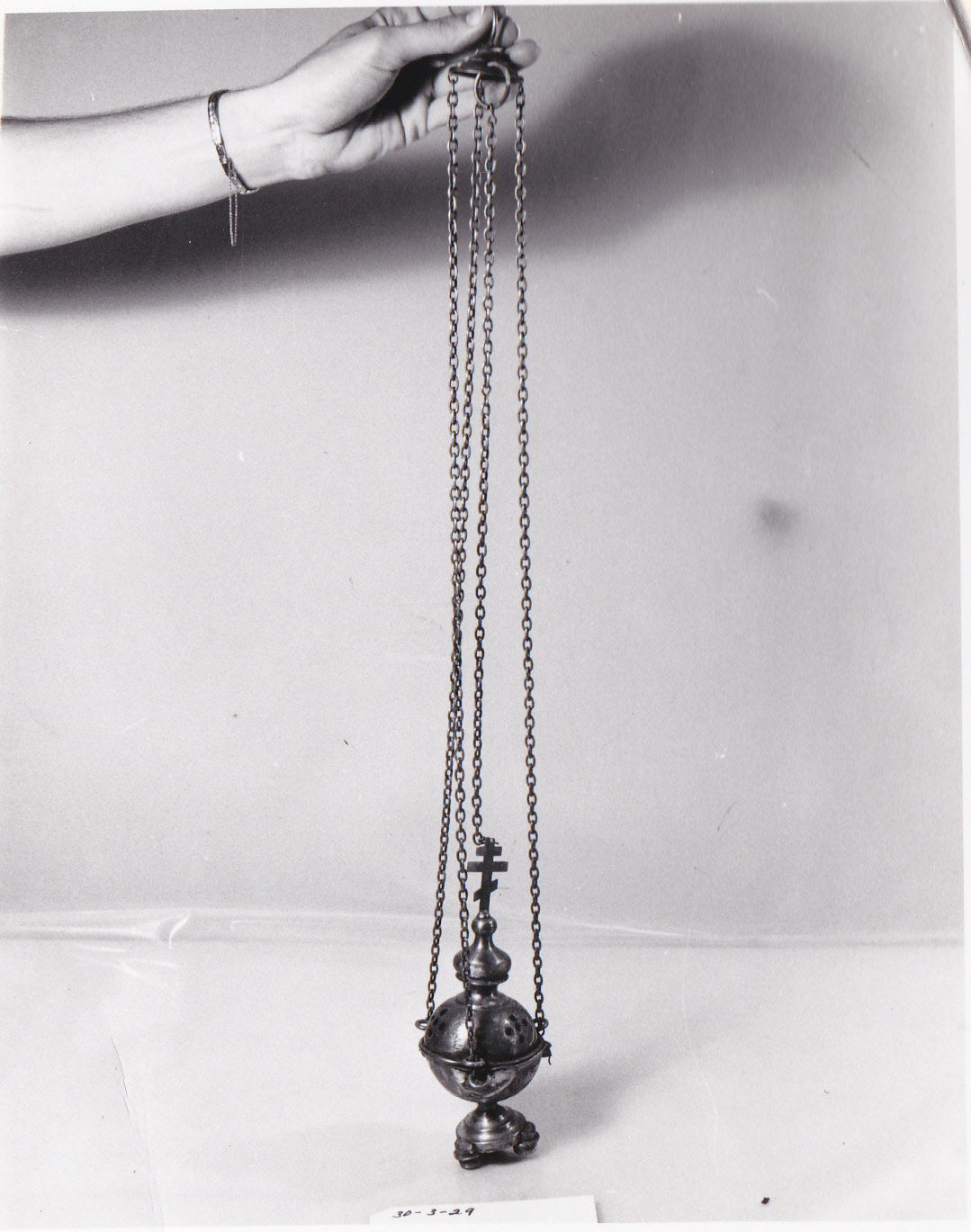 Object: Incense burner (Thurible) | UTSA Institute Of Texan Cultures