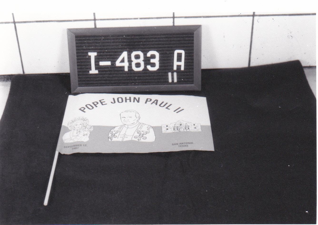 Object: Flag (commemorative flag of John Paul II) | UTSA Institute Of Texan Cultures