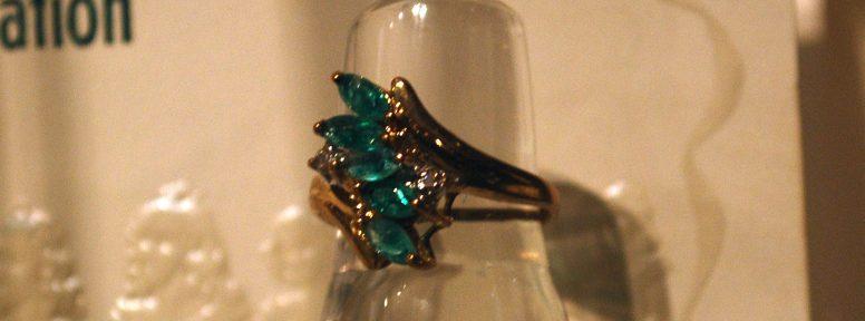 Object: Ring (10k gold birthstone ring)