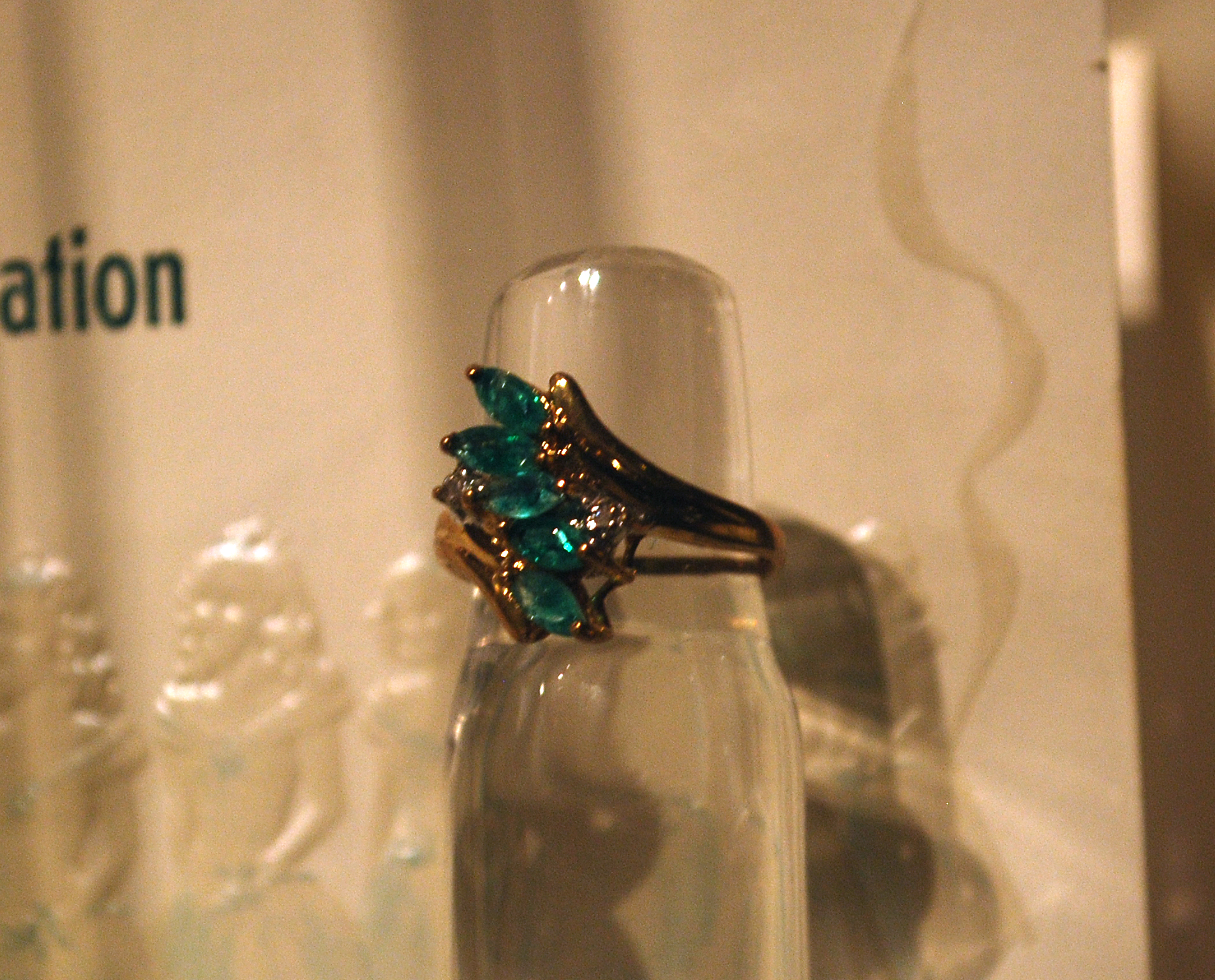 Object: Ring (10k gold birthstone ring)   UTSA Institute Of Texan Cultures
