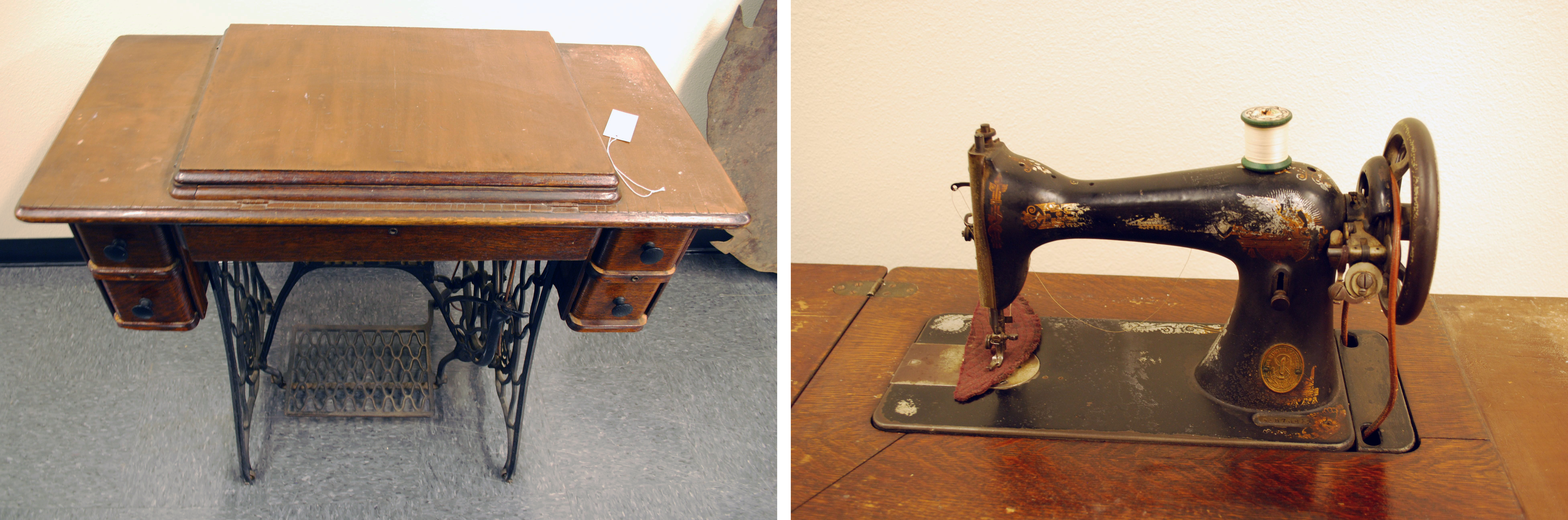 Object: Sewing Machine (Singer treadle sewing machine) | UTSA Institute Of Texan Cultures