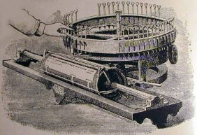 1843 Charles Thurber Patent Printer. Image from www.officemuseum.com via Wikimedia Commons.