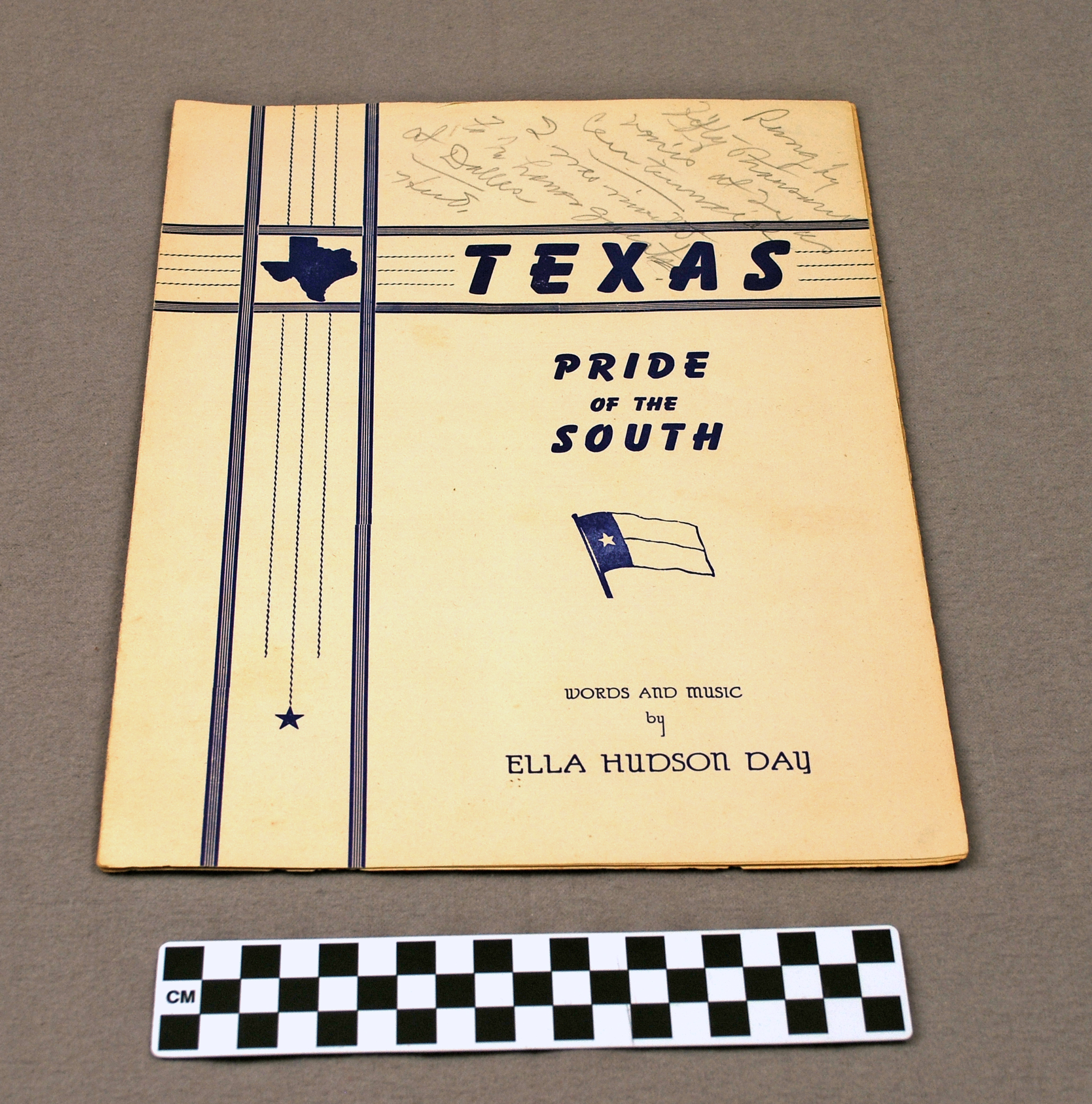 Object: Music Sheet (Texas Pride of the South)   UTSA Institute Of Texan Cultures