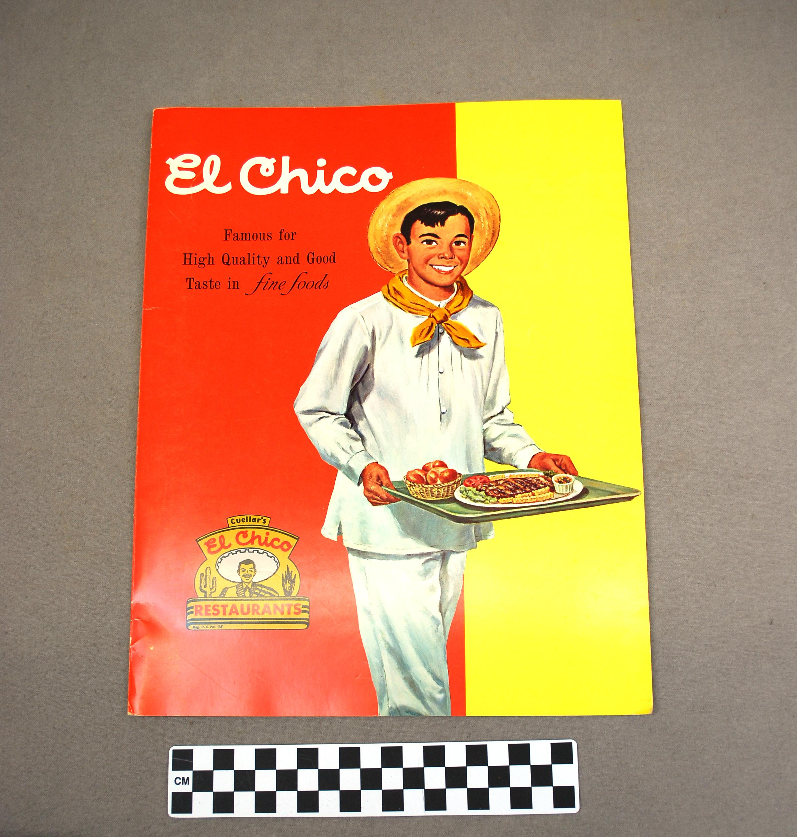 Object: Menu (El Chico Restaurant Menu) | UTSA Institute Of Texan Cultures