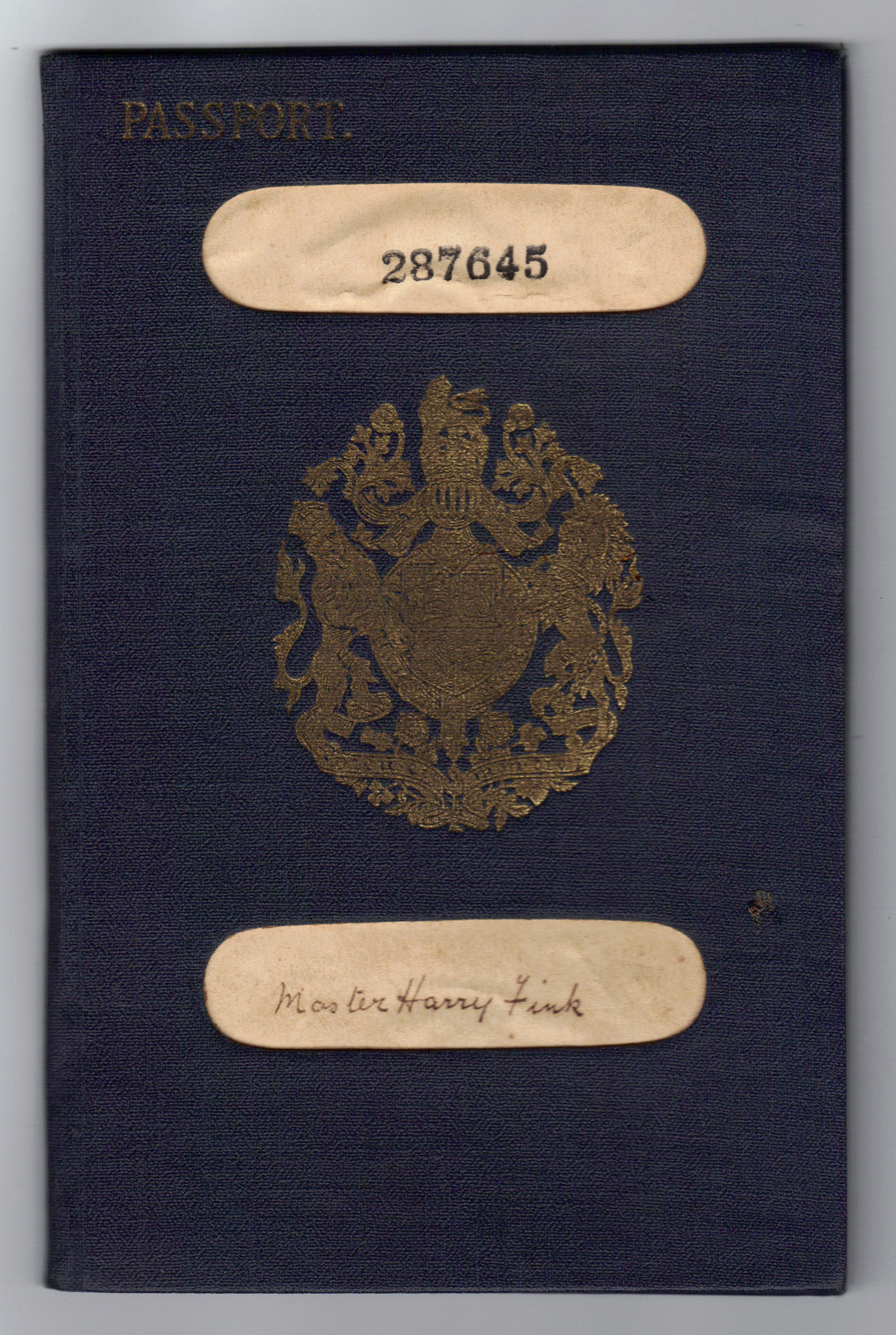 Object: Passport (British passport) | UTSA Institute Of Texan Cultures