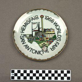 Object: Commemorative Plate (HemisFair '68 Commemorative Plate)