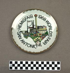 Object: Commemorative Plate (HemisFair '68 Commemorative Plate) | UTSA Institute Of Texan Cultures