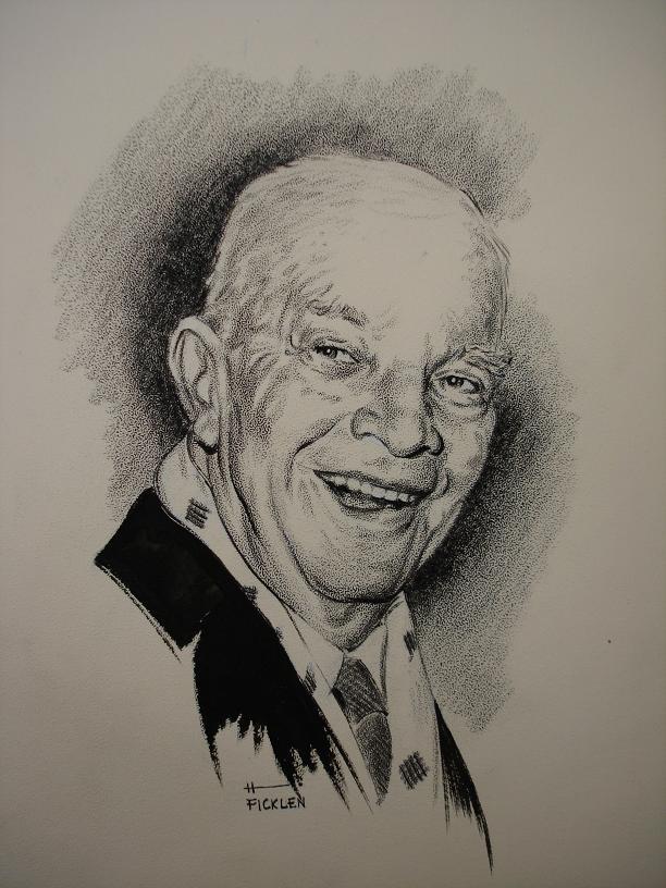 Object: Drawing (Dwight D. Eisenhower) | UTSA Institute Of Texan Cultures
