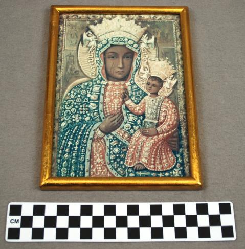 Object: Print (Print of The Black Madonna of Czestochowa)   UTSA Institute Of Texan Cultures