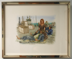 Object: Painting (Rosanna Osterman in Galveston, 1862) | UTSA Institute Of Texan Cultures