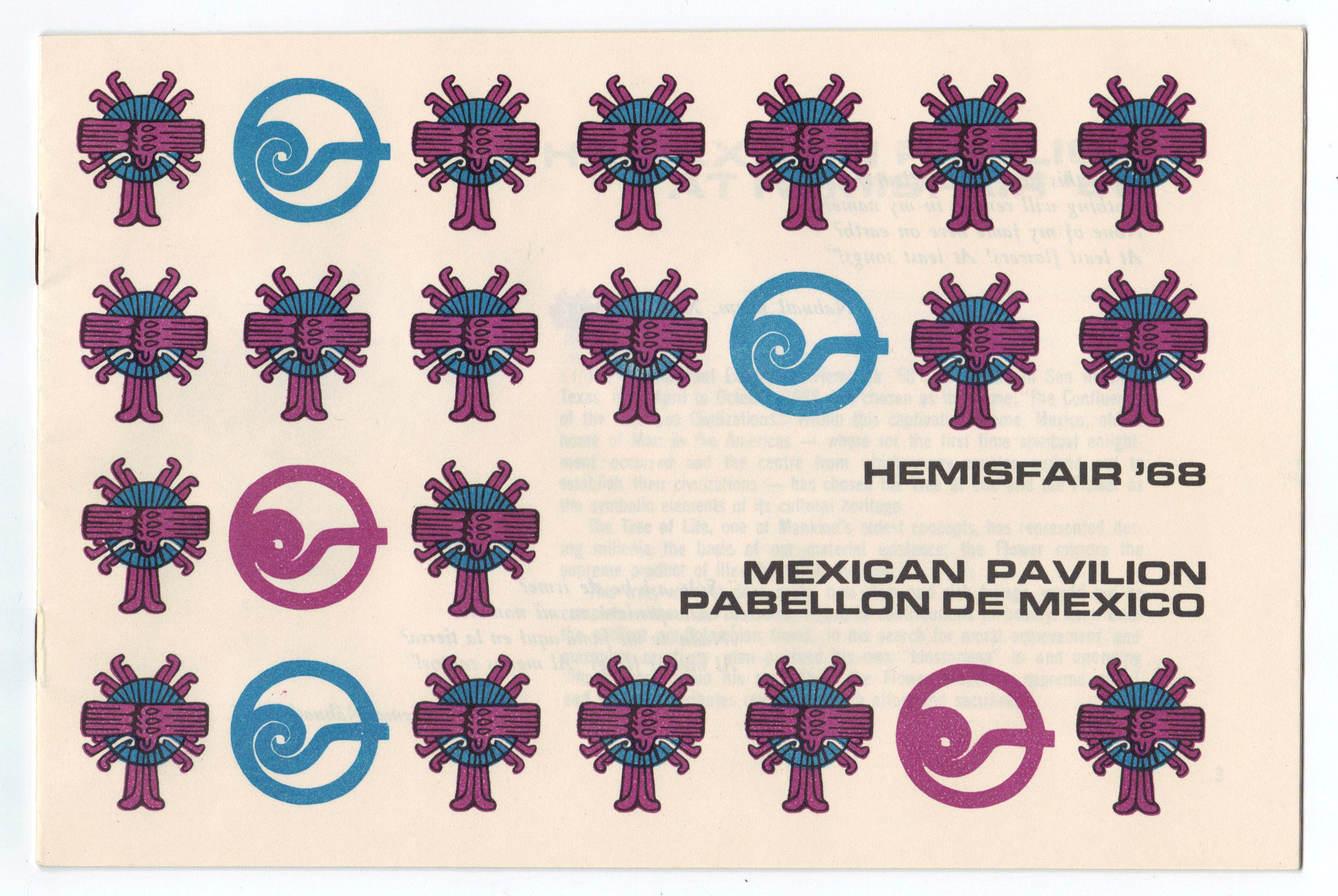 Object: Pamphlet (Mexican Pavilion Pamphlet for Hemisfair '68) | UTSA Institute Of Texan Cultures