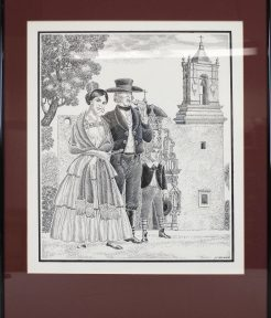 Object Blog: Drawing (Tejanos del Siglo XVIII)