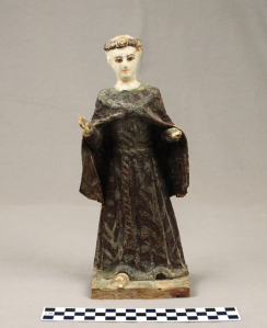 Object: Figurine (Wooden statue of Saint Anthony)   UTSA Institute Of Texan Cultures