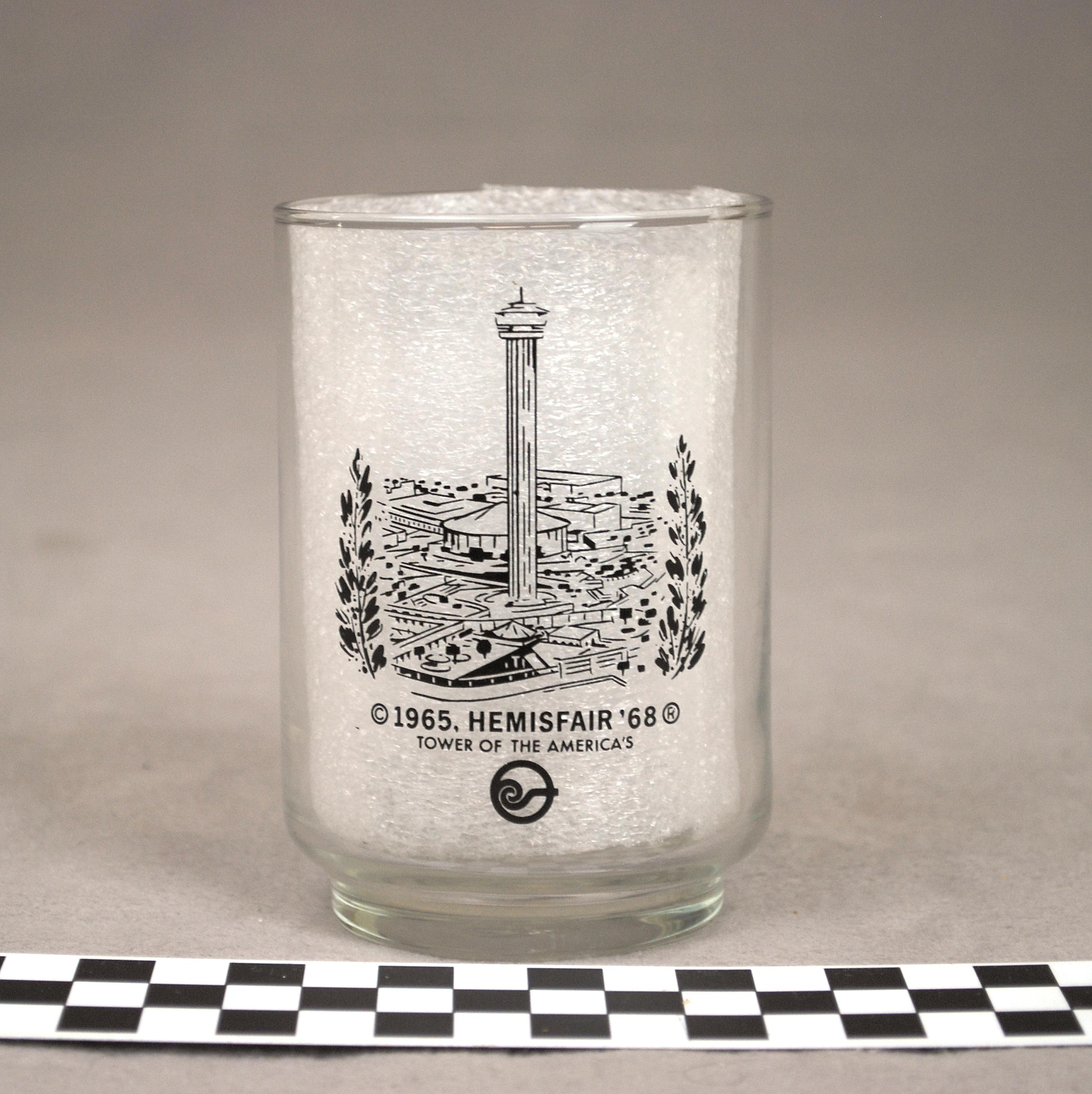 Object: Cup (HemisFair '68 souvenir cup)   UTSA Institute Of Texan Cultures