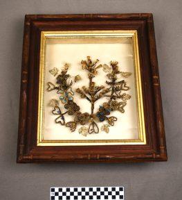 Object: Hairwork (Framed Hair Wreath)
