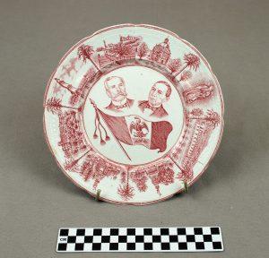 Object: Commemorative Plate (commemorative plate of Benito Juarez and Porfirio Diaz)