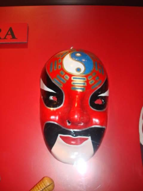Object: Mask (Chinese Opera mask depicting Jian Wei) | UTSA Institute Of Texan Cultures
