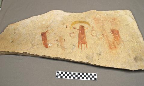 Object: Rock art reproduction | UTSA Institute Of Texan Cultures