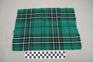 Object: Tartan (Scottish tartan from the MacLean Clan)   UTSA Institute Of Texan Cultures