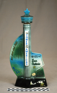 Object: Decanter (HemisFair '68 Jim Beam Decanter Souvenir)   UTSA Institute Of Texan Cultures