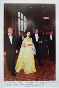 Object: Photograph (Marshall Steves, Lady Bird Johnson, and Robert Tobin)   UTSA Institute Of Texan Cultures