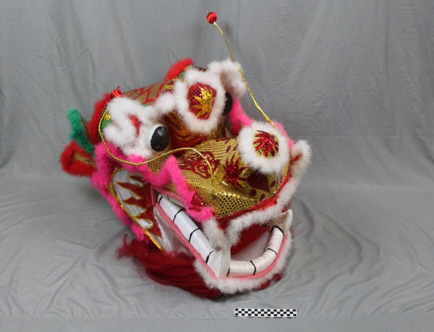 Chinese Dragon Head Stage Puppet