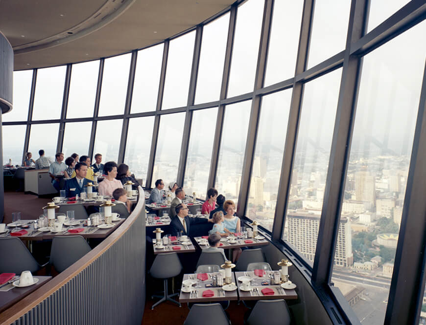 <strong>Diners view from the top of the Tower of the Americas Restaurant</strong><div>May 30, 1968. Diners view a panorama of the city from the top of the Tower of the Americas Restaurant.</div>