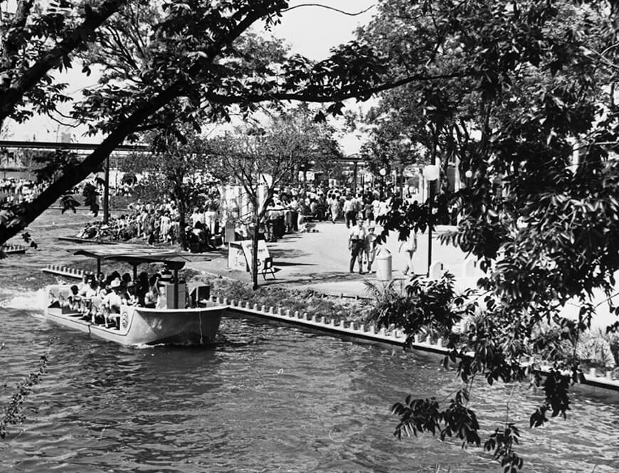 <strong>Lagoon cruise on waterway</strong><div>1968. Lagoon cruise on waterway at HemisFair '68.</div>