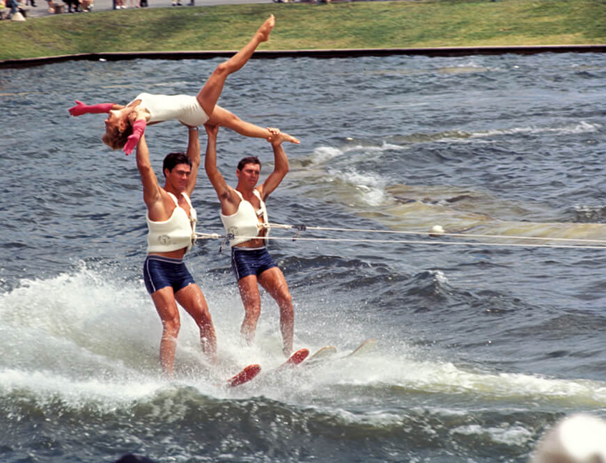 <strong>Water-ski show</strong><div>1968. Water-ski show at HemisFair '68.</div>