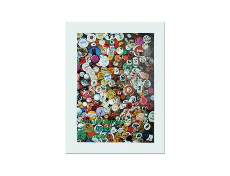 Lapel Button Collage Poster